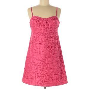 NWT LILLY PULITZER Hot Pink Karina Lace Slip Dress
